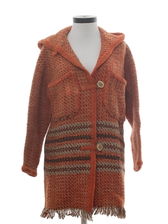 1970's Womens Wool Hippie Sweater