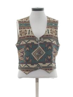 1980's Womens Southwestern Equestrian Vest