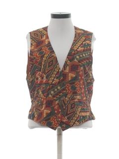 1980's Womens Southwestern Style Hippie Vest