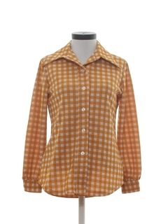 1970's Womens Mod Knit Shirt