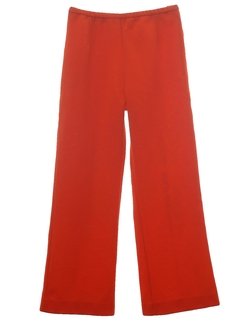 1970's Womens Knit Flare Leg Pants