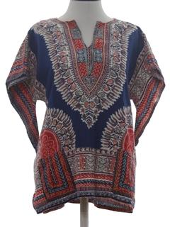 1970's Unisex Dashiki Style Hippie Shirt