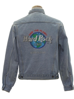1990's Mens Hard Rock Cafe Denim Jacket