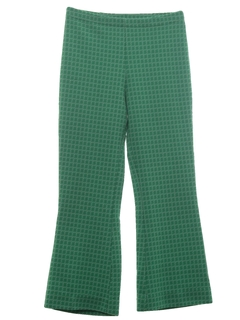 1970's Womens Flare Leg Knit Leisure Pants