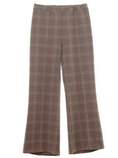 1970's Womens Knit Bellbottom Leisure Pants