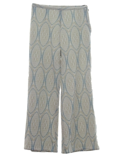 1960's Womens Knit Bellbottom Leisure Pants