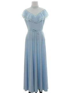 1970's Womens Prom Or Cocktail Disco Style Dress