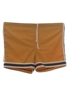 1970's Mens Mod Gym Style Swim Shorts