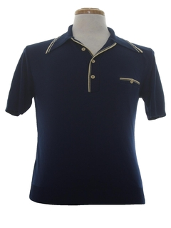 1970's Mens Ban-lon Knit Polo Shirt