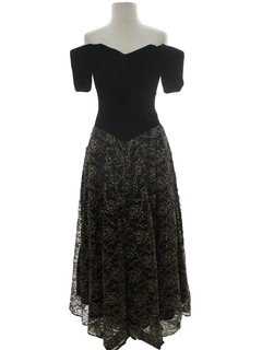 1980's Womens Maxi Prom Or Cocktail Dress