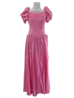 1980's Womens Pretty in Pink Prom Or Cocktail Dress