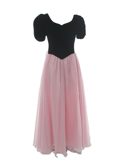 1980's Womens or Girls Princess Style Totally 80s Velvet Prom Or Cocktail Dress