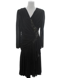 1970's Womens Disco Cocktail Dress