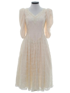 1980's Womens Princess Style Prom, Cocktail or Wedding Dress