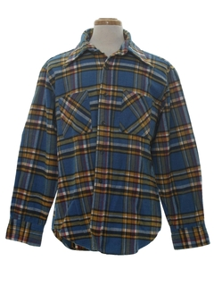 1970's Mens Flannel Work Shirt