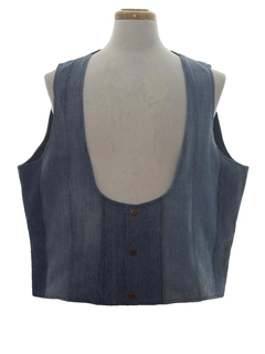 1970's Mens Denim Hippie Vest