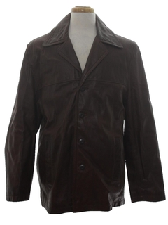 1990's Mens Leather Coat Jacket