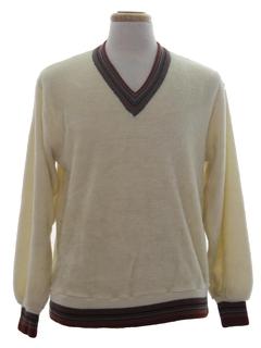 1970's Mens Velour style Shirt