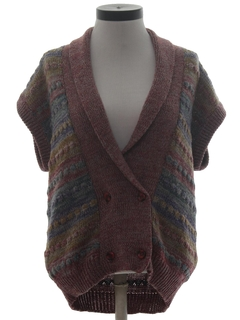 1980's Womens Hippie Sweater Vest