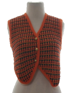 1960's Womens Hippie Sweater Vest