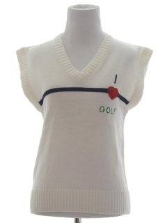 1980's Womens Golf Sweater Vest