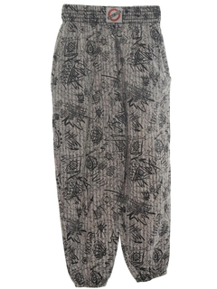 1980's MensTotally 80s Baggy Print Pants