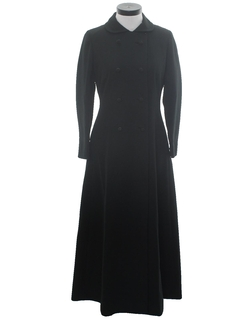 1960's Womens Maxi Mod Cocktail Coat Jacket