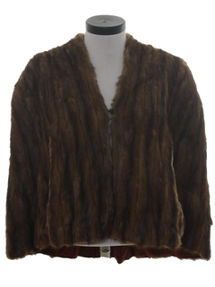 1940's Womens Fab Forties Fur Cape Jacket
