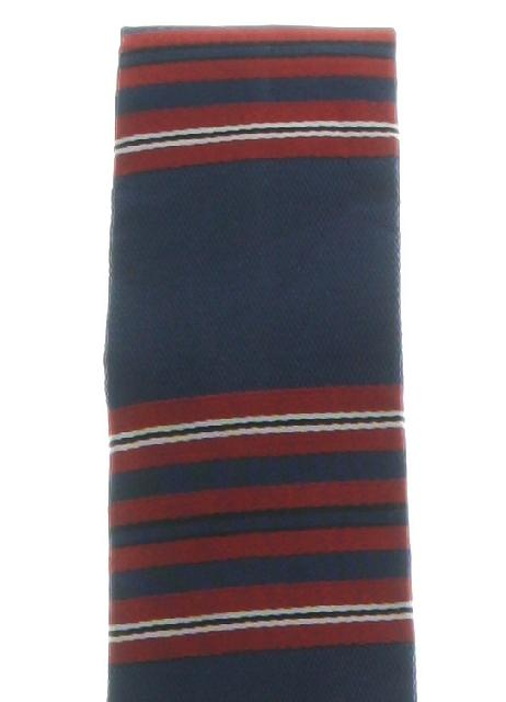 1950's Mens Skinny Flat Bottom Mod Necktie