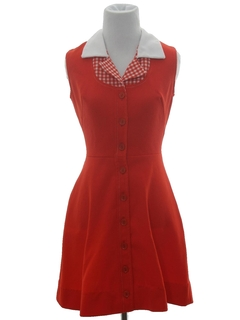 1960's Womens Mini Knit Dress
