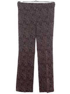 1960's Womens Knit Bellbottom Pants