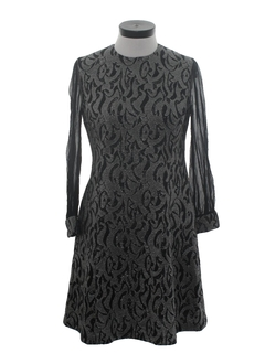 1960's Womens Prom Or Cocktail Knit Dress
