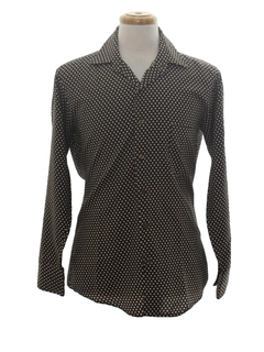 1970's Mens Polka Dot Print Disco Shirt