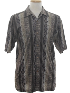 1980's Mens Print Disco Style Club/rave Shirt
