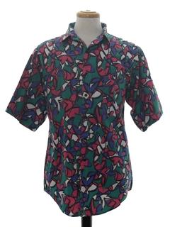 1990's Mens Totally 80s Print Shirt