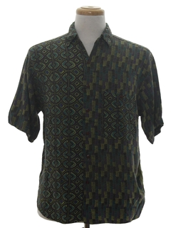 1990's Mens Graphic Print Shirt