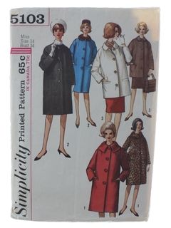 1960's Womens Coat Jacket Pattern