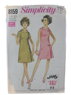 1960's Womens Jiffy DressPattern