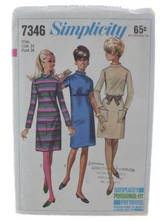 1960's Womens DressPattern