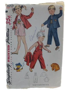 1950's Unisex/ChildsPattern