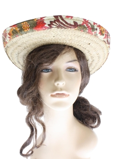 1960's Unisex Accessories - Straw Hat
