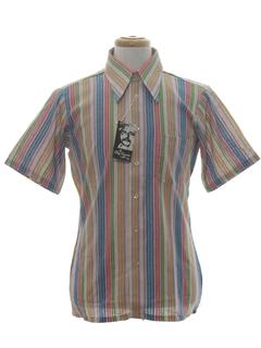 1970's Mens Designer Mod Sport Shirt*