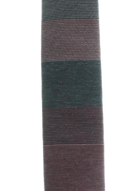 1960's Mens Flat Bottom Skinny Mod Style Necktie