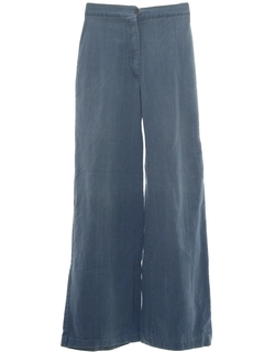 1970's Womens Flare Leg Denim Pants