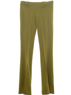 1960's Womens Bellbottom Knit Pants