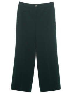 1970's Womens Flare Leg Knit Pants