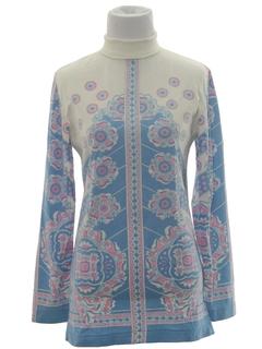 1960's Womens Border Print Shirt