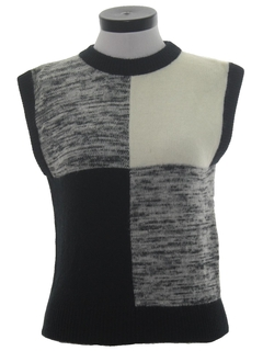 1980's Womens Sweater Vest Shirt