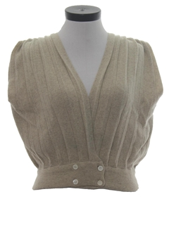 1980's Womens Sweater Vest