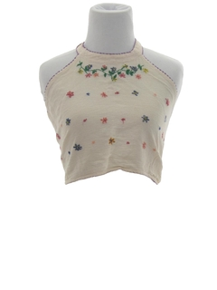 1970's Womens Hippie Halter Shirt
